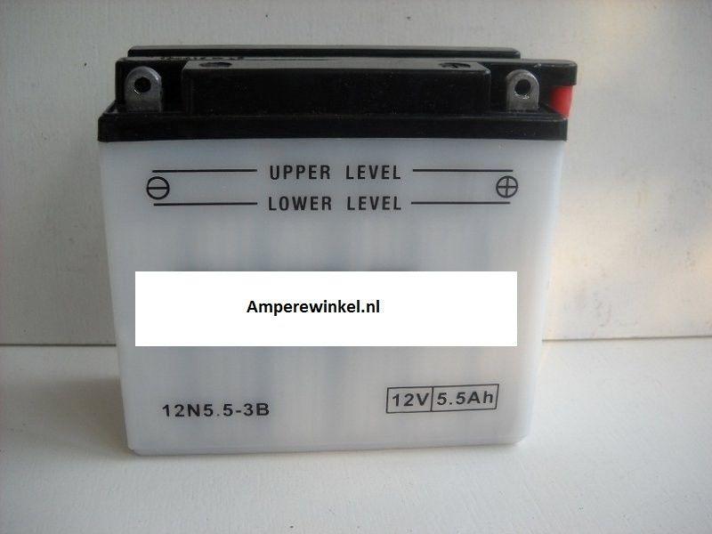 Motor accu 12 Volt 5,5 Ah + pool rechts 12N5,5-3B-0