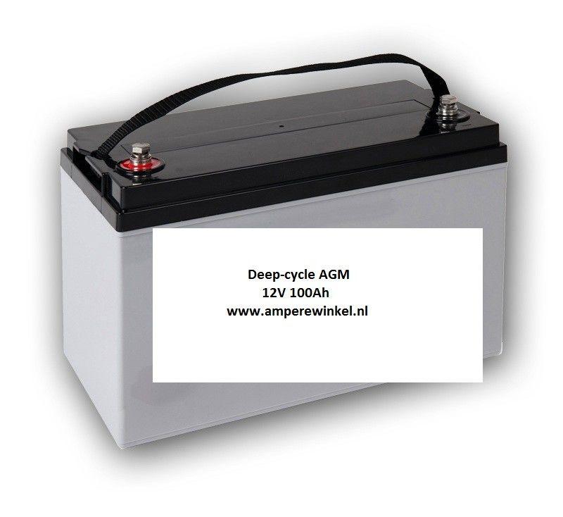 Beaut 100Ah AGM Semi-tractie 12V Starten + Verlichting / 10 uur / 1600 Cycli!-0