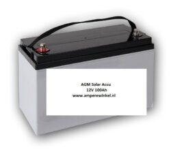 Beaut 100Ah 12V AGM Solar Accu - Accu voor Zonnepanelen / 10 uur / 1600 Cycli!-0