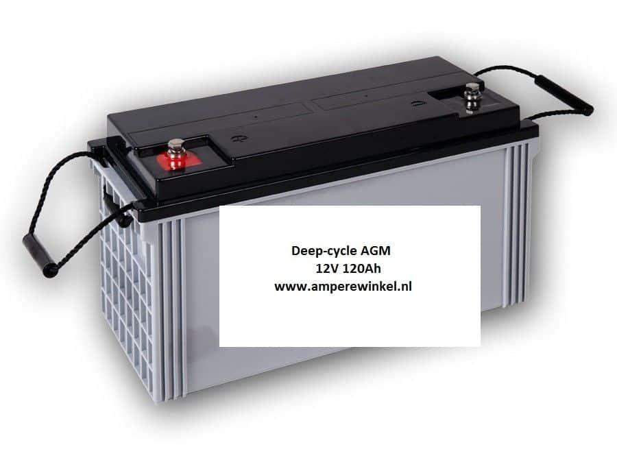 Beaut 120Ah AGM Semi-tractie 12V Starten + Verlichting / 10 uur / 1600 Cycli!-290