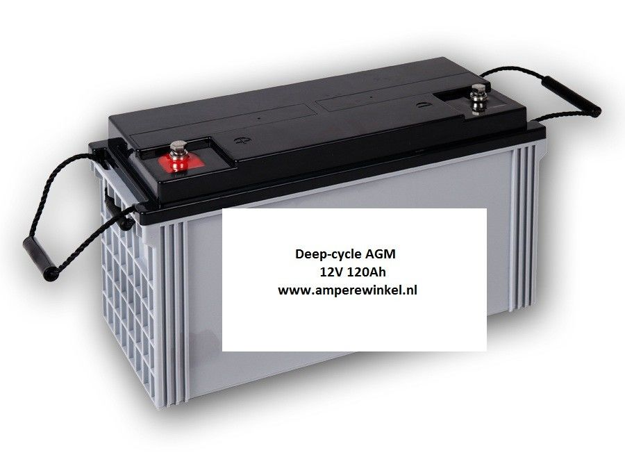Beaut 120Ah AGM Deep-cycle Semi-tractie accu 12V / 10 uur / 1600 Cycli!-0