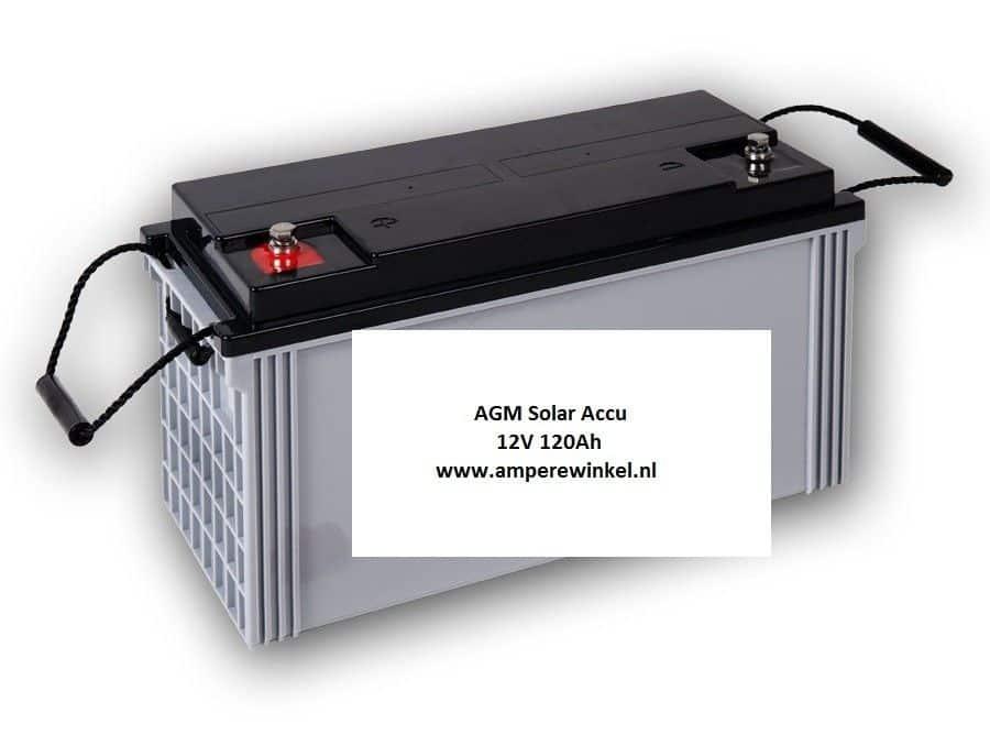 Complete Set + 100W 12V Daglichtpaneel GradeA+ / Zonnepaneel + Solar Accu 100Ah 12V-1143