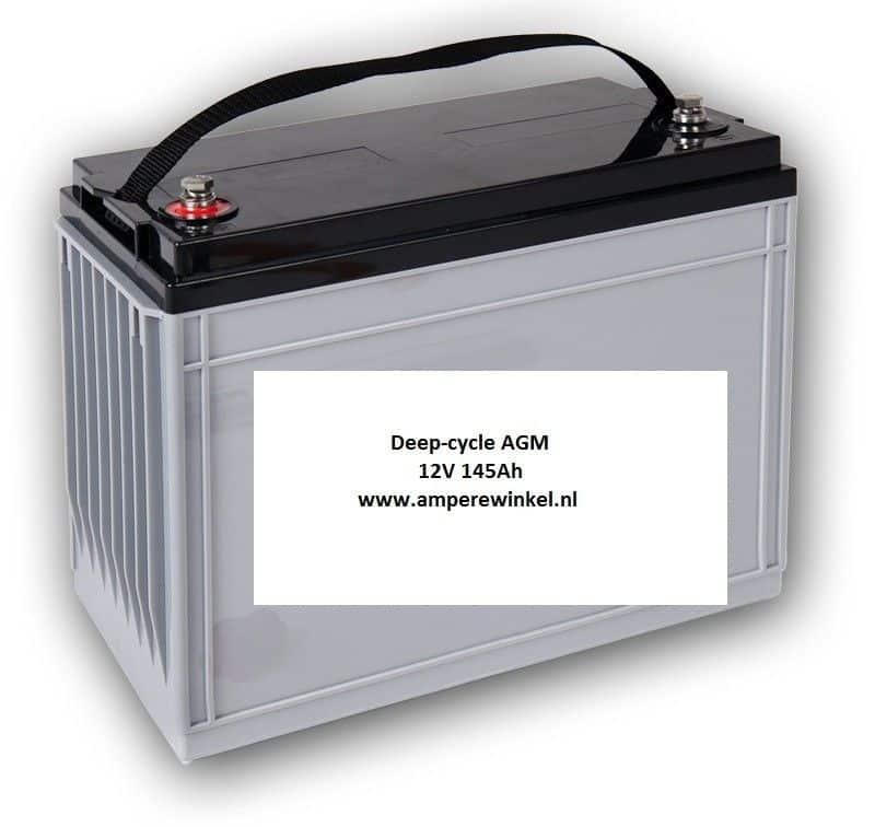 Beaut 145Ah AGM Deep-cycle Semi-tractie accu 12V / 10 uur / 1600 Cycli!-0
