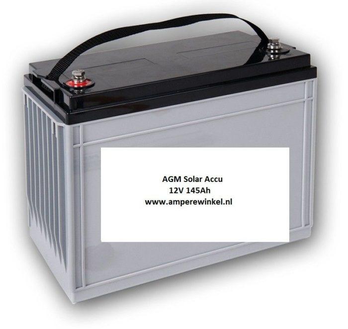 Beaut 145Ah 12V AGM Solar Accu - Accu voor Zonnepanelen / 10 uur / 1600 Cycli!-0