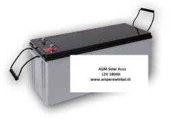 Beaut 180Ah 12V AGM Solar Accu - Accu voor Zonnepanelen / 10 uur / 1600 Cycli!-0
