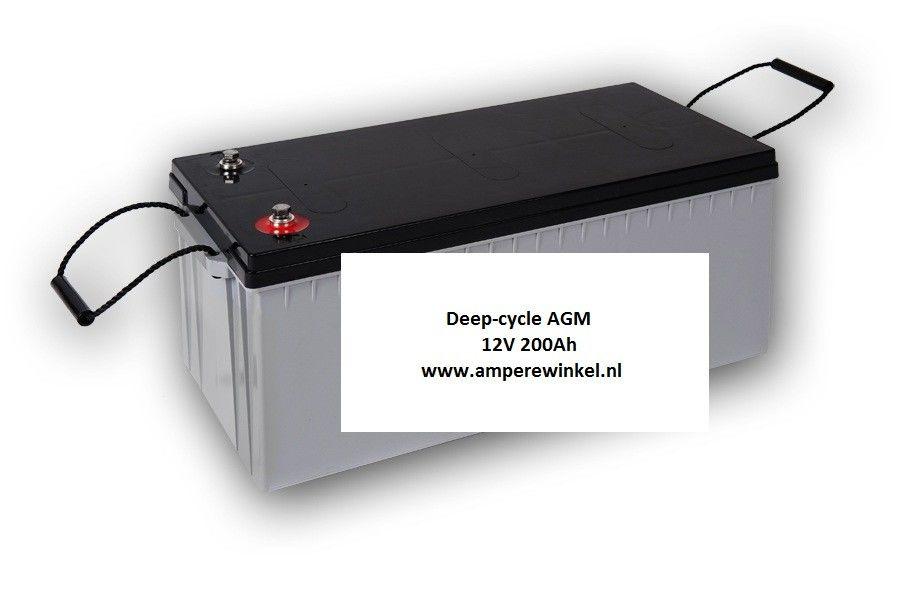 Beaut 200Ah AGM Semi-tractie 12V Starten + Verlichting / 10 uur / 1600 Cycli!-0