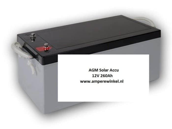 Beaut 260Ah 12V AGM Solar Accu - Accu voor Zonnepanelen / 10 uur / 1600 Cycli!-0