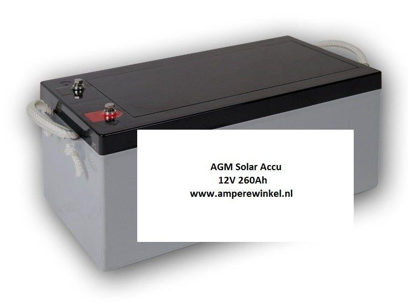 Complete Set + 100W 12V Daglichtpaneel GradeA+ / Zonnepaneel + Solar Accu 180Ah 12V-1144