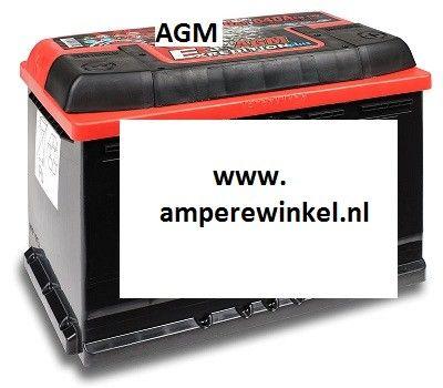AGM accu 12 VOLT 70AH + RECHTS 57001-0