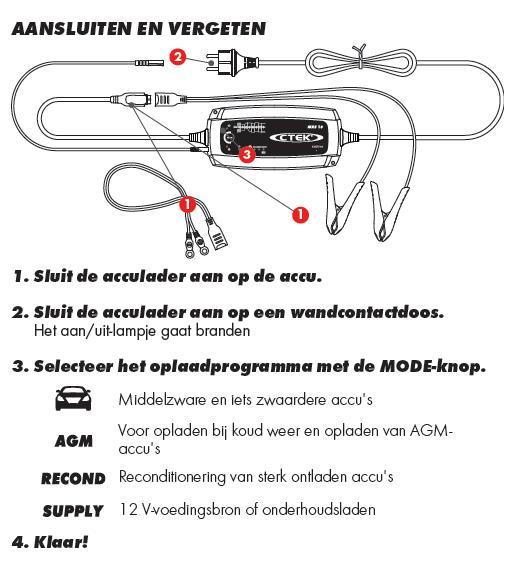 Ctek XS MXS 10 12 Volt 10 Ampere Nieuwste generatie zware acculaders-363