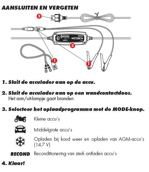 Ctek XS MXS 5.0 T 12 Volt 5 Ampere Nieuwste generatie acculader-368