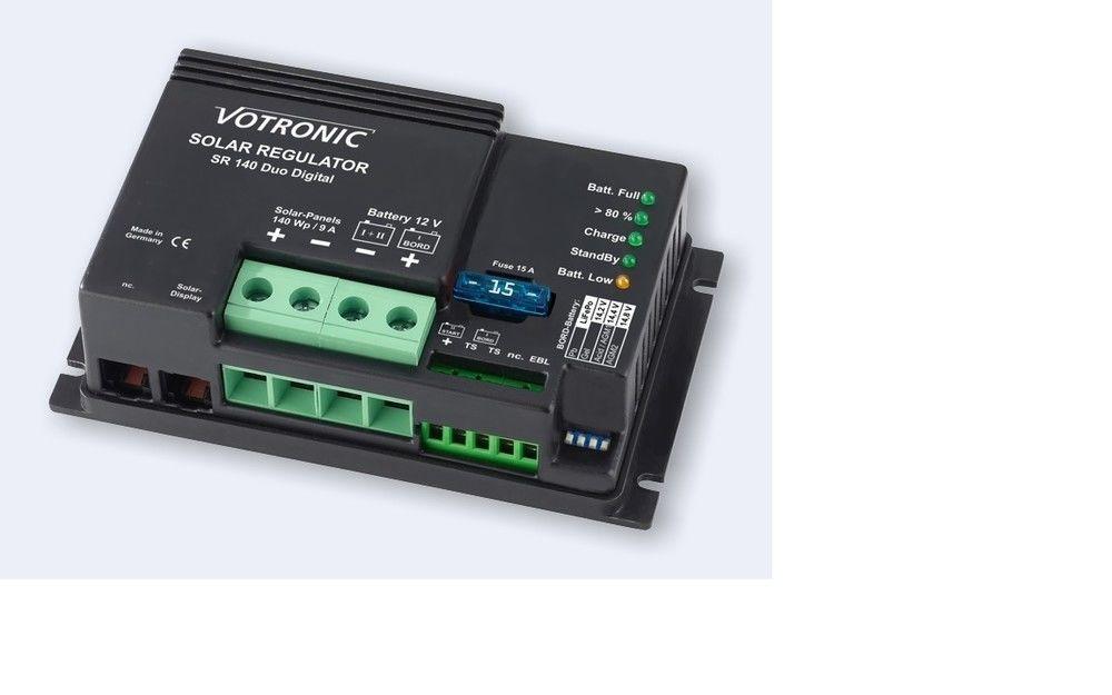 Votronic Laadregelaar SR 140 DUO 12V Solar Laadregelaar / Spanningsregelaar + EBL-kabelset tbv EBL-systeem-0