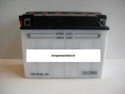 Motor accu 12 Volt 20 Ah + pool rechts Y50N18L-A2-0