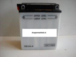 Motor accu 12 Volt 12 Ah + pool links YB12A-A-0