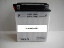 Motor accu 12 Volt 12 Ah + pool rechts YB12AL-A / YB12AL-A2-0