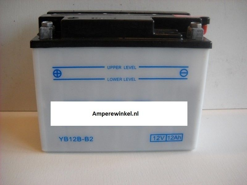 Motor accu 12 Volt 12 Ah + pool links YB12B-B2-0