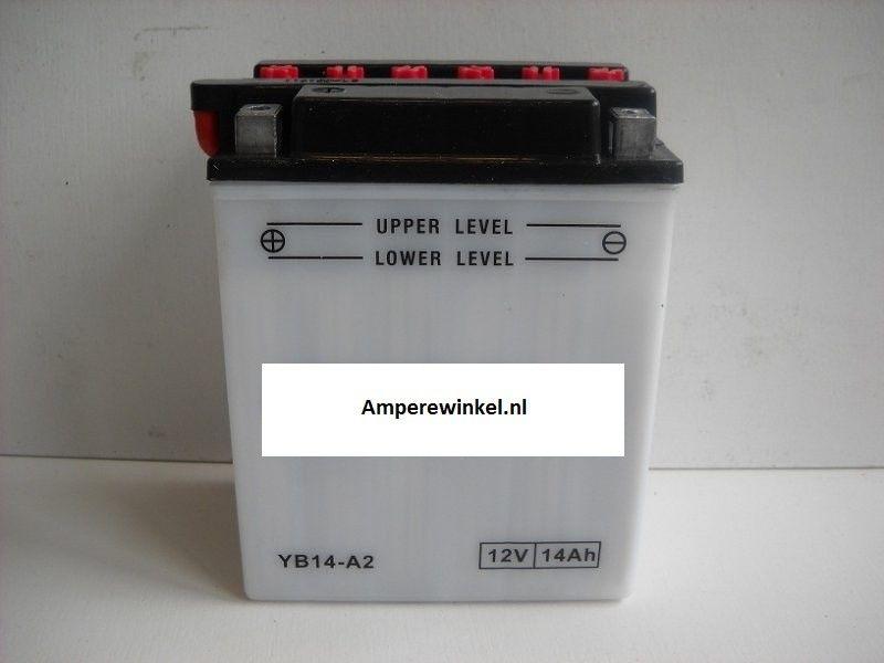 Motor accu 12 Volt 14 Ah + pool links YB14-A2-0