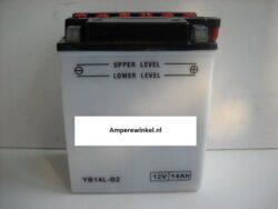 Motor accu 12 Volt 14 Ah + pool rechts YB14L-B2-0