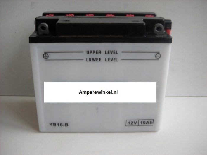 Motor accu 12 Volt 19 Ah + pool links YB16-B-0