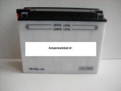 Motor accu 12 Volt 16 Ah + pool rechts YB16AL-A2-0