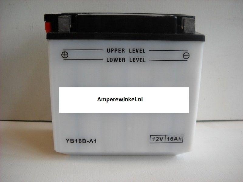 Motor accu 12 Volt 16 Ah + pool links YB16B-A (YB16B-A1)-0