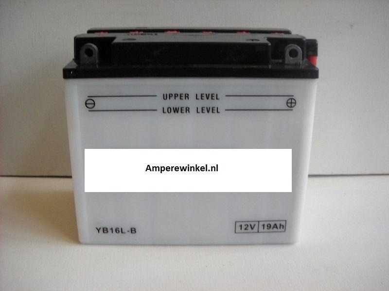 Motor accu 12 Volt 19 Ah + pool rechts YB16L-B-0
