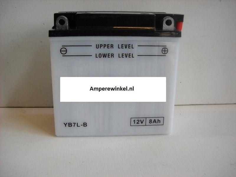 Motor accu 12 Volt 8 Ah + pool rechts YB7L-B-0