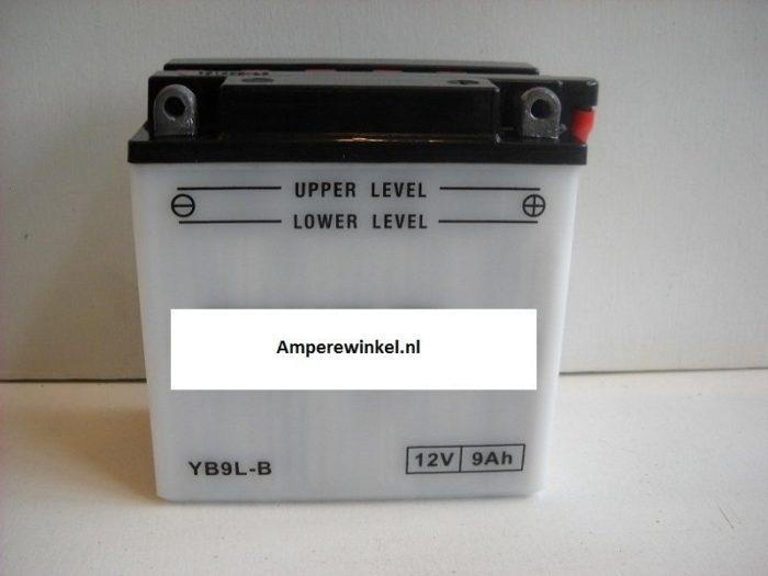 Motor accu 12 Volt 9 Ah + pool rechts YB9L-B-0