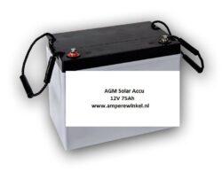 Beaut 75Ah 12V AGM Solar Accu - Accu voor Zonnepanelen / 10 uur / 1600 Cycli!-0
