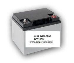 Beaut 40Ah AGM Semi-tractie 12V Starten + Verlichting / 10 uur / 1600 Cycli!-0