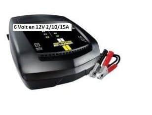 6 Volt en 12 Volt Intelligente Acculader Schakelbaar Max. 15 Ampère -0