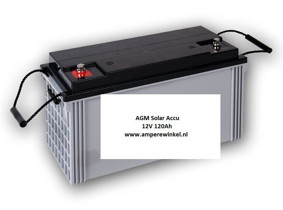 Complete Set + 130W 12V Daglichtpaneel GradeA+ / Zonnepaneel + Solar Accu 100Ah 12V-1800