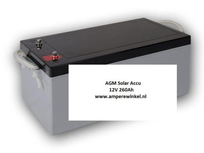 Complete Set + 130W 12V Daglichtpaneel GradeA+ / Zonnepaneel + Solar Accu 230Ah 12V-1824