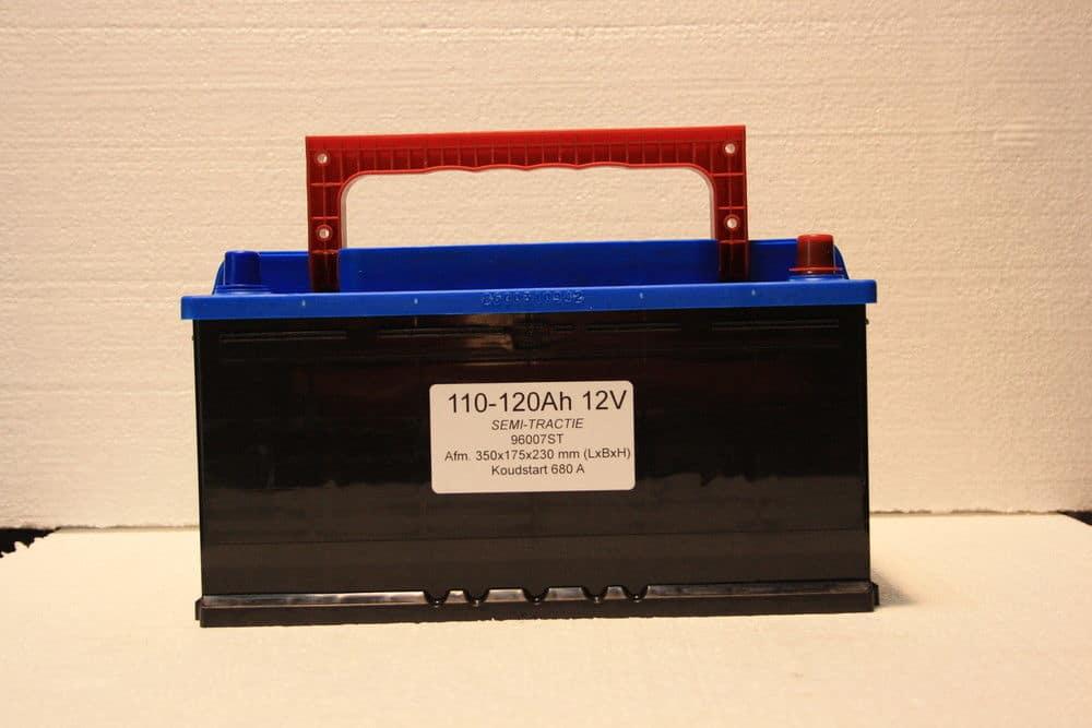 Complete Set + 130W 12V Daglichtpaneel GradeA+ / Zonnepaneel + Solar Accu 100Ah 12V-1798