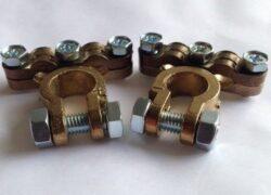 Accupool Klemmen Set DUBBEL / Messing / Industriële kwaliteit - 2 stuks (+ en -)-0