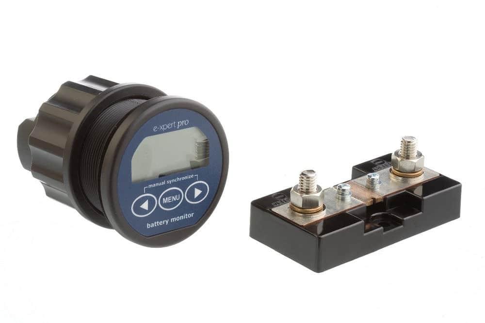 Accu monitor / Informatiedisplay Samlex E-xpert Pro - Energiemeter voor 2 accu's-0