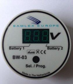 Accu monitor Voltage weergave - Informatiedisplay voor 2 accu's-0