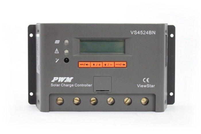 Solar laadregelaar 45 Ampère 12V / 24 Volt met digitaal display-0