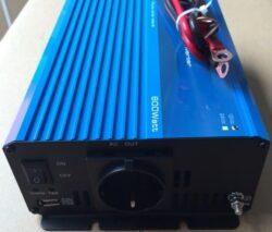 600W 12V Continu Zuivere Sinus Omvormer (1200W Piekvermogen) + Kabels-0