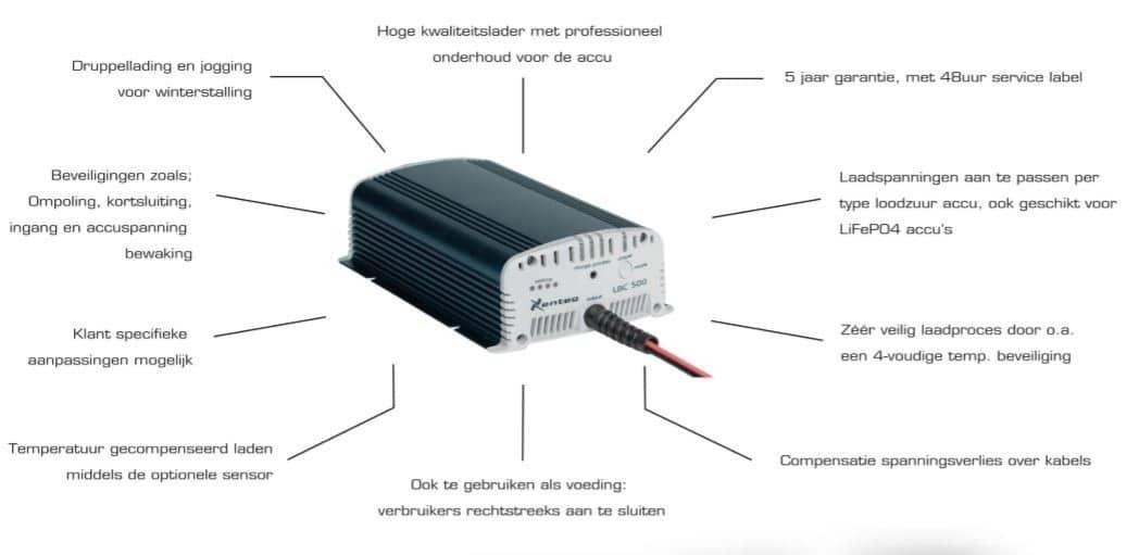 Xenteq LBC 512-10S Acculader 12 Volt 10 Ampère-3377