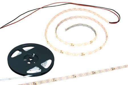 LED Strip Warm Wit 12 Volt 3m. met aansluitkabel en plakstrip -0