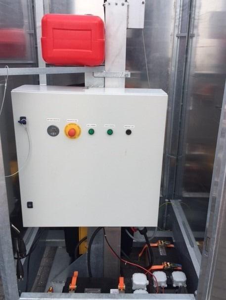 Cameramast Beveilingsmast + waterdichte electrakast-0