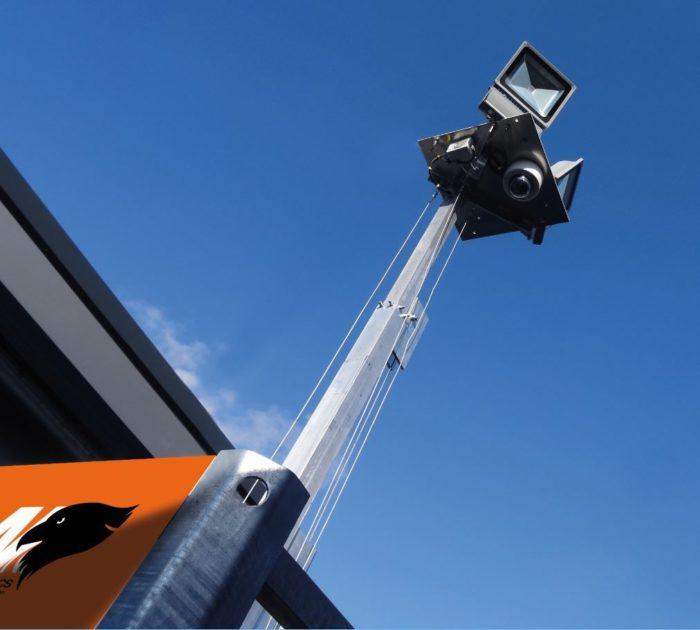 Cameramast Beveilingsmast + UPS pakket 12U + LED verlichting + IP Camera PTZ VCA-2433