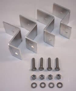Aluminium Z-beugels montageset 4 stuks tbv montage zonnepaneel op dak-0