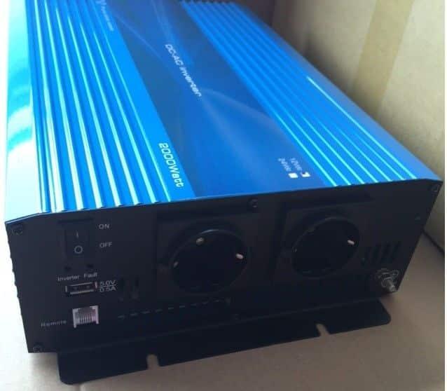1500W 24V Continu Zuivere Sinus Omvormer (3000W Piekvermogen) + Kabels-0