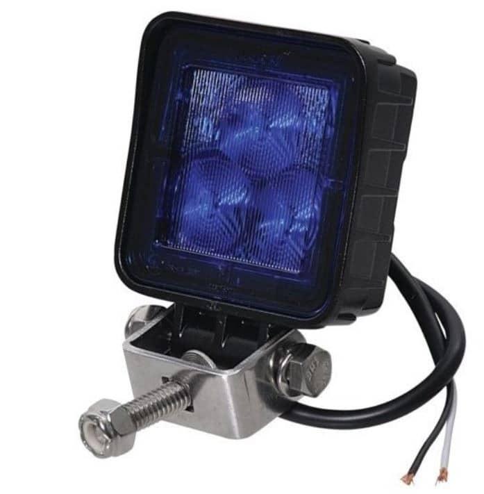 LED Werklamp Vrachtwagen Bestelwagen Trekker 12V en 24V Donkerblauwe lens / licht-0