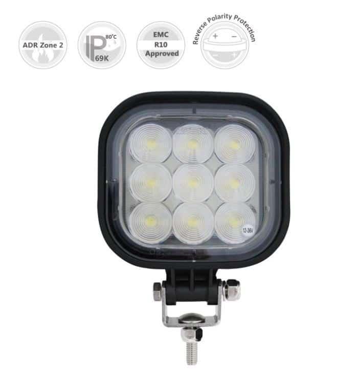 LED Werklampen 12V-24V-48V Vrachtwagen Trekker Bestelwagen Heftruck ADR Zone 2 en IP69K Goedgekeurd-0