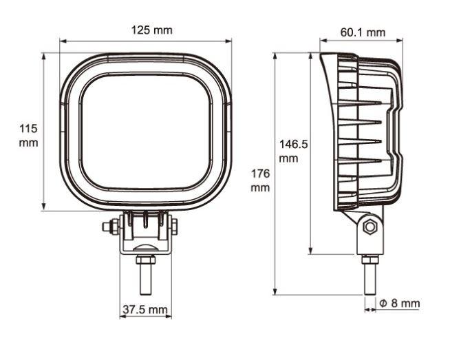 LED Werklampen 12V-24V-48V Vrachtwagen Trekker Bestelwagen Heftruck ADR Zone 2 en IP69K Goedgekeurd-3226